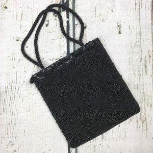 Vintage Bloomingdales Black Beaded Mini Purse